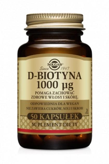 SOLGAR D-Biotyna 1000mcg 50kaps