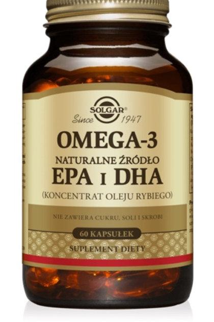 SOLGAR Omega 3 EPA i DHA Naturalne 60kaps