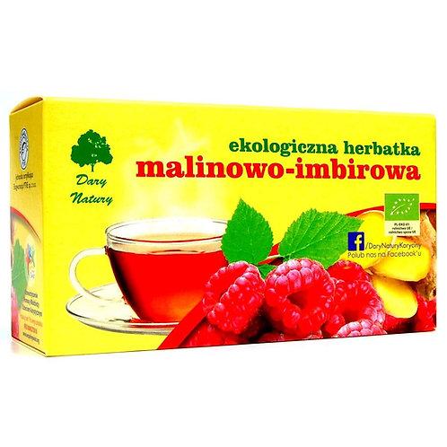 Herbatka Malinowo Imbirowa 20x3g EKO