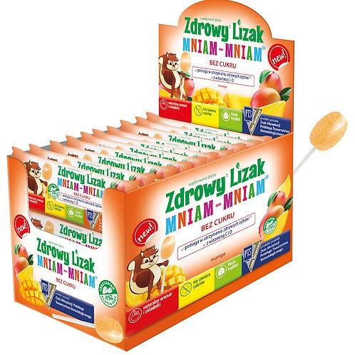Zdrowy lizak MANGO Mniam-Mniam bez cukru 1szt