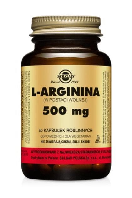 SOLGAR L- Arginina 500mg 50kaps
