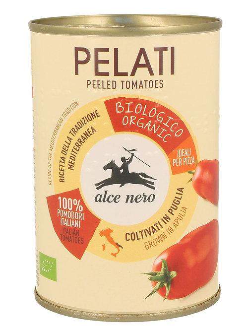 ALCE NERO Pomidory Pelati bez skóry w puszce BIO 400g