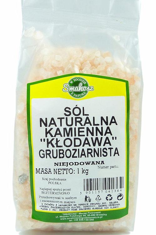 """SMAKOSZ Sól naturalna kamienna gruboziarnista """"Kłodawa"""" niejodowana 1kg"""