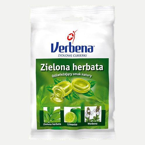 Cukierki ziołowe Zielona herbata 60g VERBENA