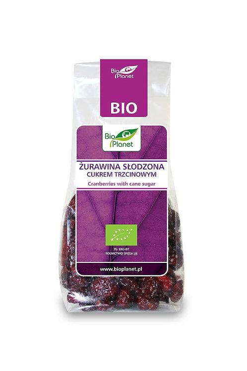 BIO PLANET Żurawina słodzona cukrem trzcinowym BIO 100g