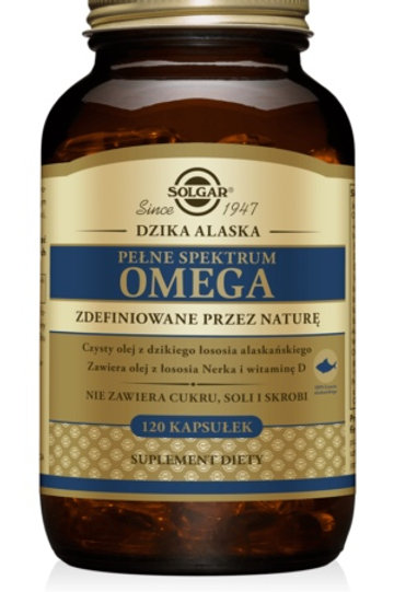 SOLGAR Pełne Spektrum Omega Dzika Alaska 120Kaps