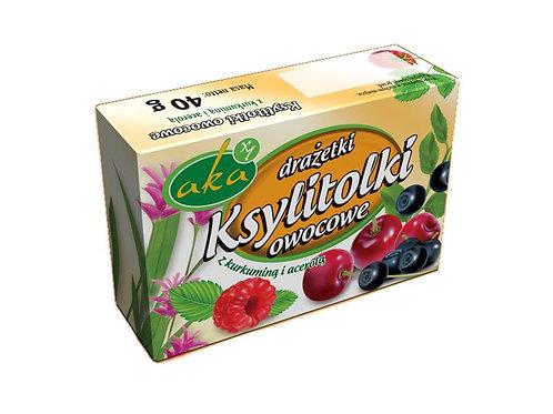 Ksylitolki drażetki pudrowe owocowe 40g b/c AKA