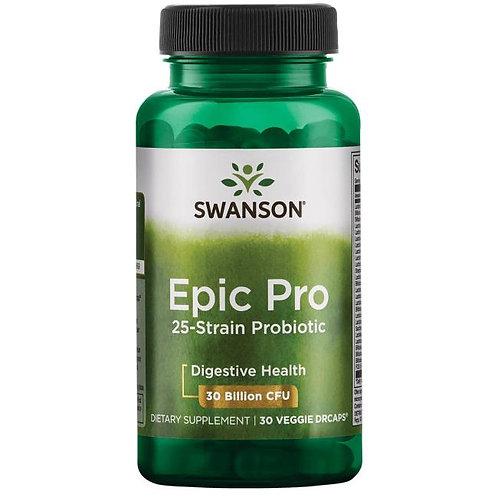 SWANSON Epic Pro 25-Strain Probiotic 30dr vcaps.