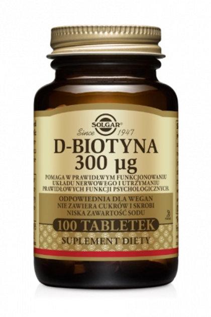 Solgar D-Biotyna 300mcg 100tabletek