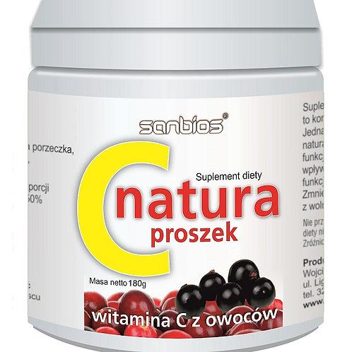SANBIOS C natura proszek 180g - witamina C z owoców