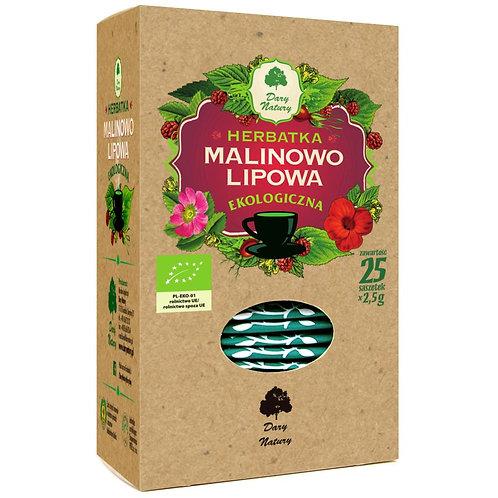 Herbata Malinowo - Lipowa fix BIO 25*2,5g DARY NATURY