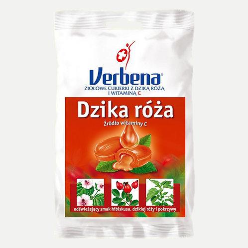 Cukierki ziołowe Dzika róża 60g VERBENA