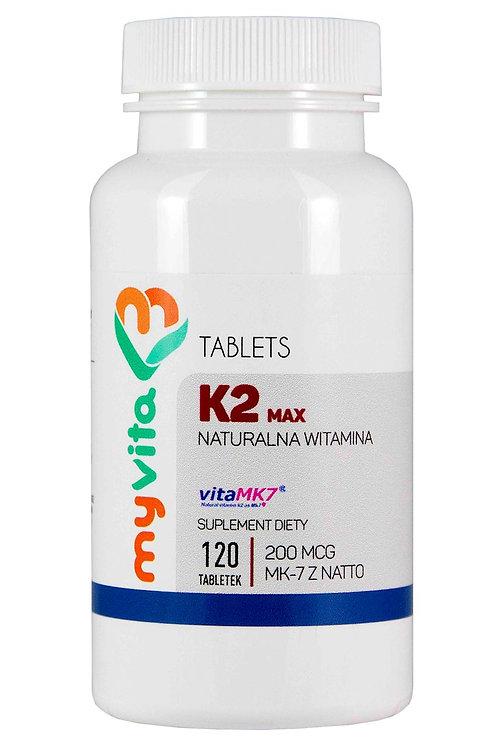MyVita Witamina K2 MAX MK-7 z natto 120tabl. (200mcg)