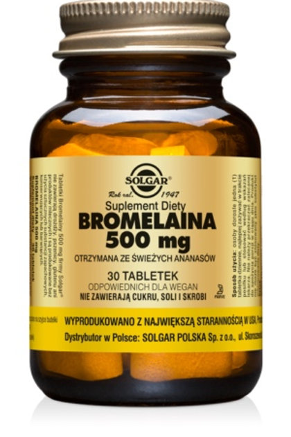 SOLGAR Bromelaina 500mg 30Tabl.