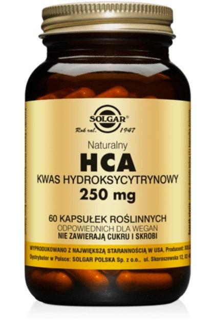 SOLGAR HCA Kwas Hydroksycytrynowy 250mg 60kaps Garcinia Cambogia
