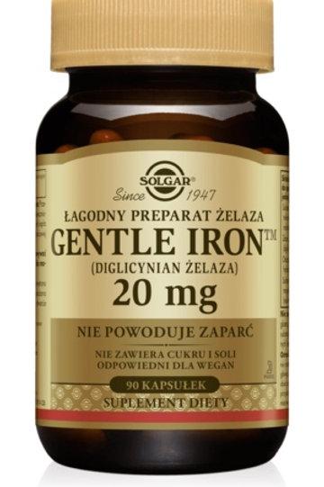 SOLGAR Żelazo (Gentle Iron) 20mg 90Kaps