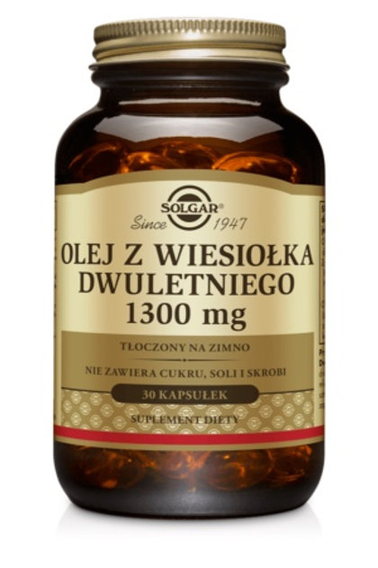 SOLGAR Olej z Wiesiołka Dwuletniego 1300mg 30kaps