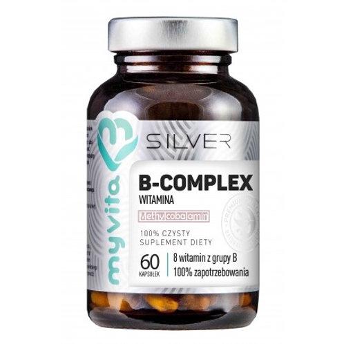 Witamina B Complex 60Kaps Silver Pure