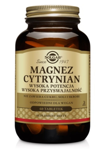 SOLGAR Magnez Cytrynian 60tabl