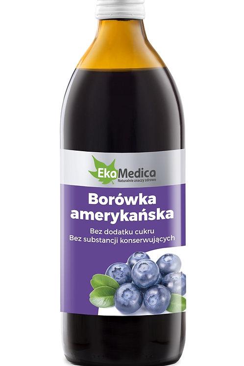Sok Borówka Amerykańska 100% 500 ml.