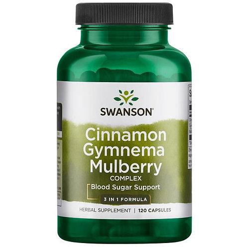 SWANSON Cynamon, Gymnema, Morwa - kompleks 120caps.