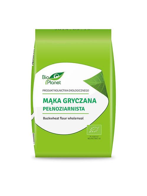 BIO PLANET Mąka gryczana pełnoziarnista BIO 1kg