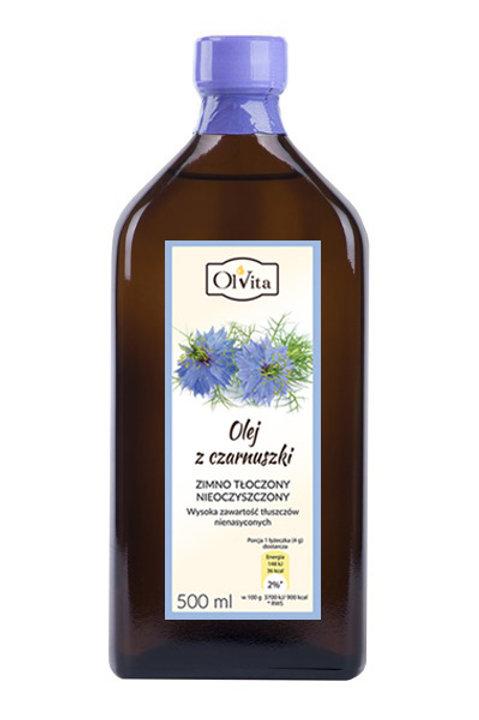OLVITA Olej z czarnuszki zimno tłoczony 500ml