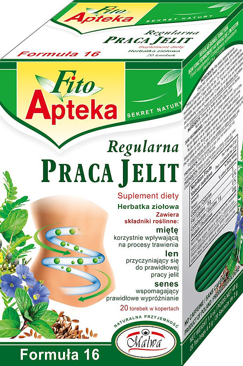 F16 Regularna Praca Jelit herbata 20*2g MALWA