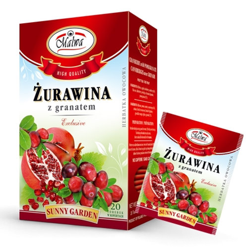 Herbata żurawina z granatem 20*2g MALWA