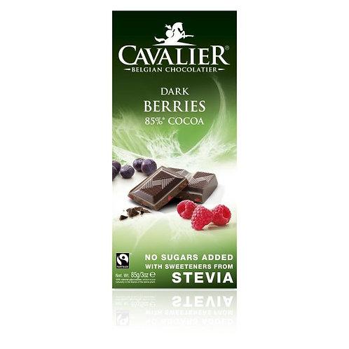 CAVALIER Czekolada deserowa z owocami leśnymi sł.stewią 85g