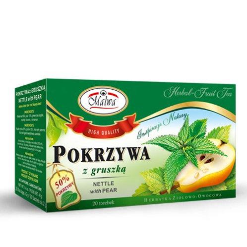 Herbata Pokrzywa + gruszka 20*2g MALWA