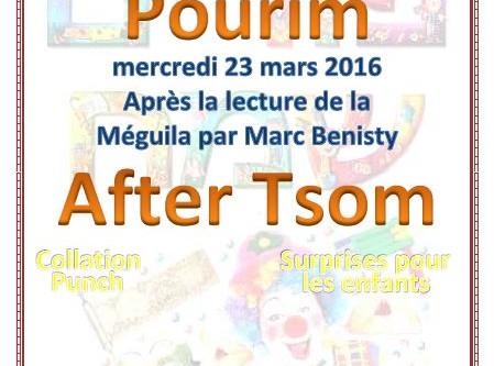 "Pourim ""After Tsom"""