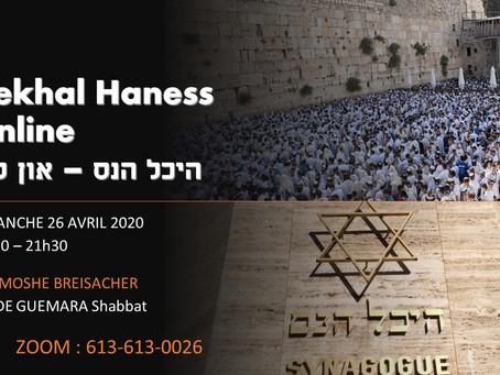 26/04/2020 - Etude Guemara Shabbat (70a) - Rav Breisacher