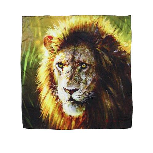 Print on Silk-Lion
