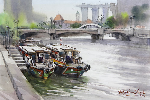 Two Bumboats, Singapore River