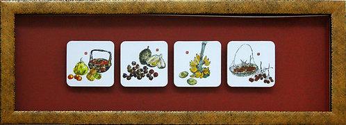 Framed Coasters (Lim Tze Peng Fruit Series)