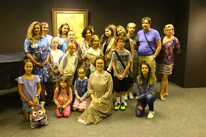 Artist Inessa K with her students