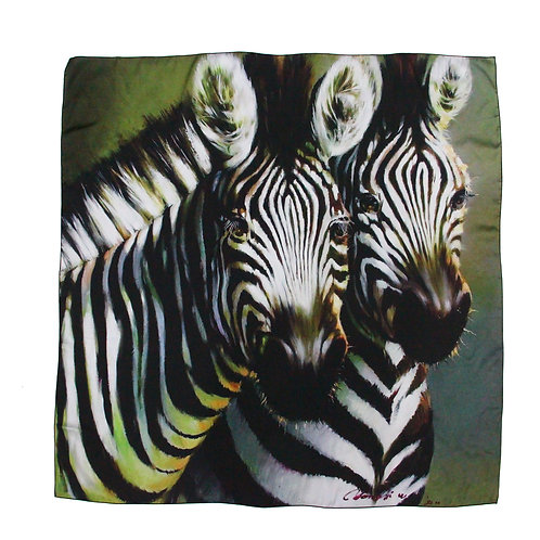 Print on Silk-Zebra