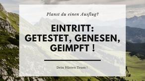 EINTRITT-GETESTET, GENESEN, GEIMPFT