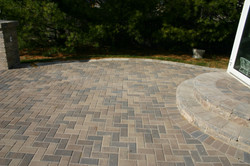 Brick Patio and step