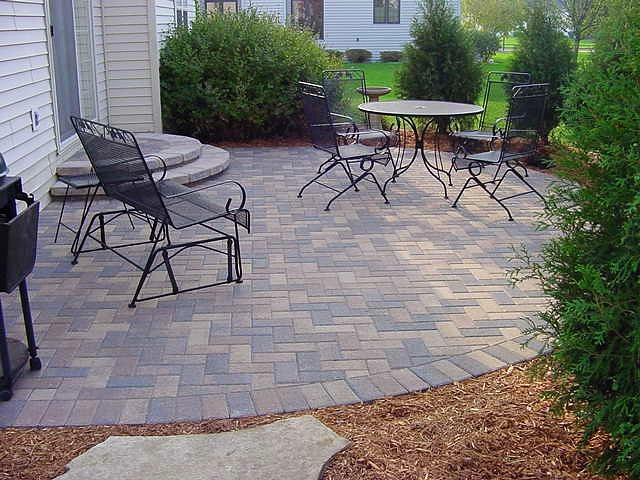 unilock brick patio