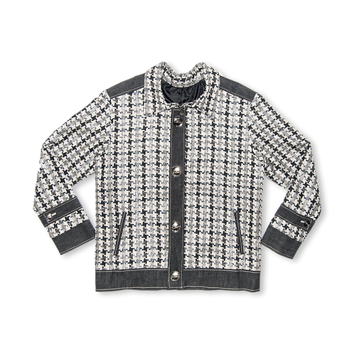 Ain't Nothing but a Hounds Tooth Bomber Jacket