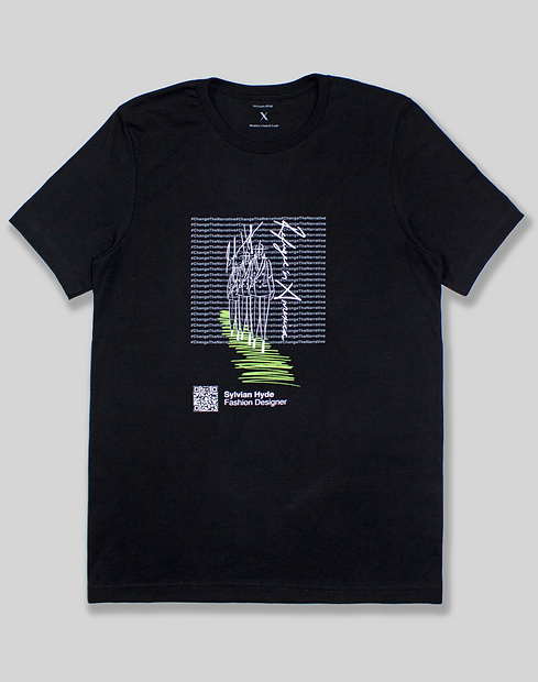 #ChangeTheNarrative Sylvian Hyde Black T-Shirt