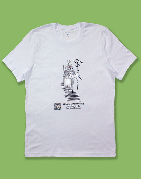 #ChangeTheNarrative Sylvian Hyde White T-Shirt