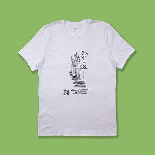 #ChangeTheNarrative Sylvian Hyde White T-Shirt
