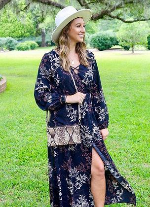 Maxi Leafprint Dress