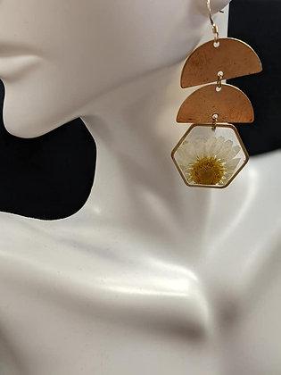 Double Gold Daisy Earrings