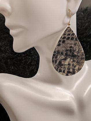 Snakeskin Italian Leather Earrings