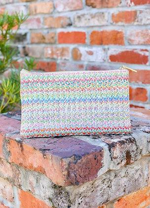 Basket woven crossbody bag