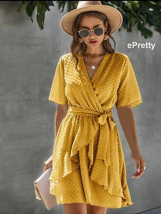 Dottie Faux Wrap Dress